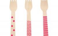 Disposable-Wooden-Forks-Hot-Pink-Flatware-Bright-Pink-18-Count-Wooden-Forks-Stripe-Chevron-Polka-Dot-Serving-Fork-Dinnerware-Sets-Wedding-Decorations-Utensil-Set-40.jpg